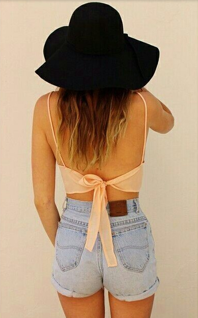 Vest strap bustier beach crop top