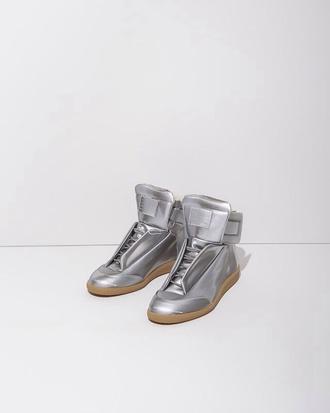 shoes shoe style fashion metallic shoes silver