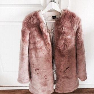 coat pink faux fur pink faux fur faux fur jacket