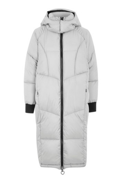 Topshop jacket puffer jacket long grey