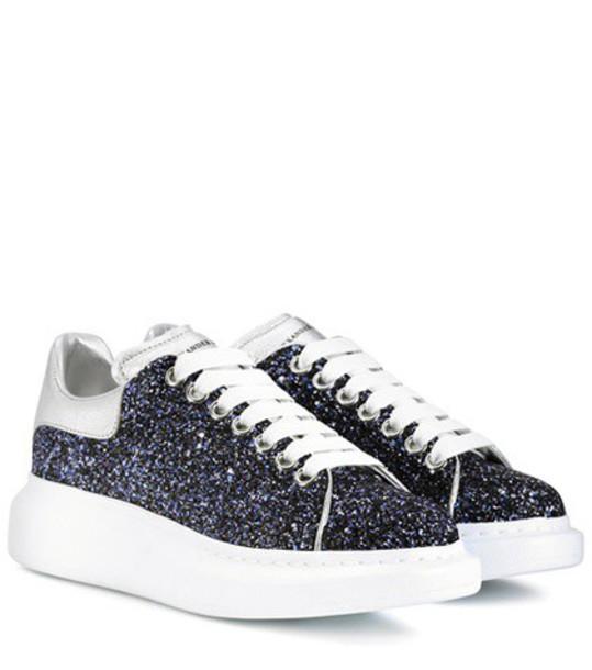 Alexander Mcqueen glitter sneakers blue shoes