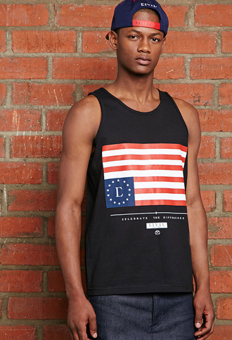 tank top civil black usa america usa flag us flag summer streetwear