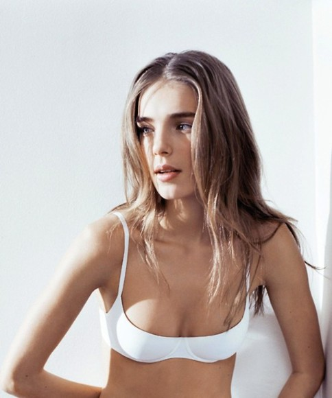 underwear white white underwear bra model simple fresh