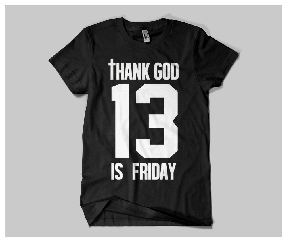 GOD IS FRIDAY 13 / Urban T-shirts