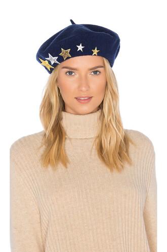 beret wool navy hat