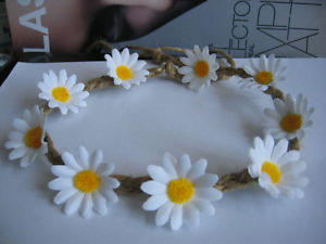 White Daisy Flowers Floral Crown Headband Boho Garland Handmade FEB12 | eBay