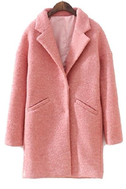 Coat: pink, oversized coat, pastel, colorful, big ...