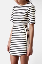 dress,striped dress,beyonce dress,black and white dress