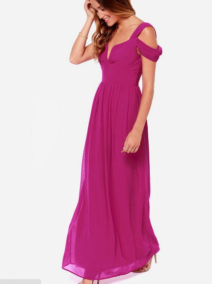 chiffon evening dress prom dress maxi dress long dress dress ball gown floor length dress off the shoulder dress purple homecoming dress red carped dress celeb
