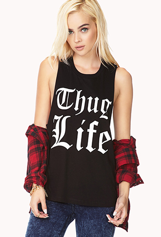 Thug Life Muscle Tee | FOREVER21 - 2000140278