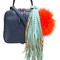 The volon fringed medium tote, women's, blue
