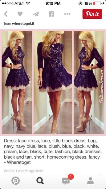 dress lace black tan under neath