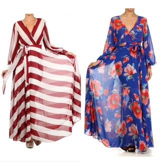 dress maxi floral floral dress royal blue summer spring fall maxi dress long dress striped dress