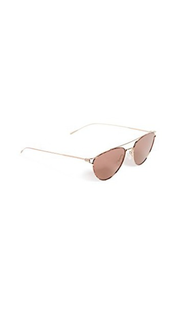 Oliver Peoples Eyewear sunglasses rose gold rose gold burgundy