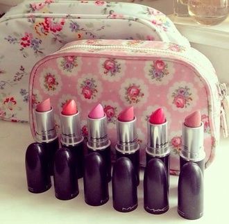make-up mac cosmetics mac lipstick makeup bag