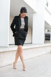 wendy's lookbook,t-shirt,jacket,shoes,sequin shirt,chevron,mini skirt,black skirt,black blazer,blazer