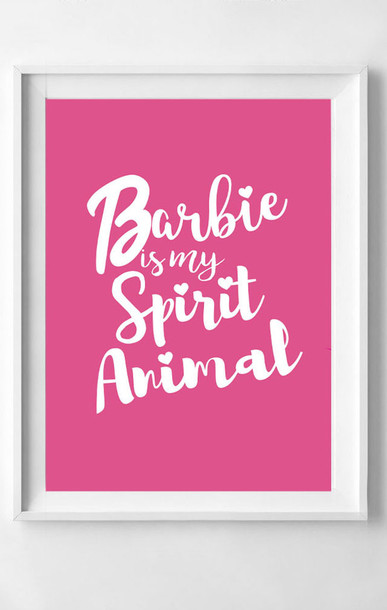 home accessory barbie spirit animal barbie pink pink home decor