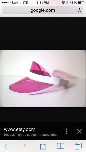 hat pink sun visor visor pink cap