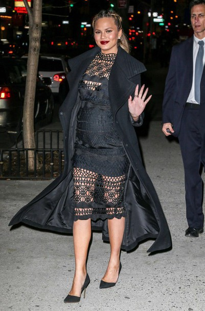 Chrissy Teigen Wearing A Asilio Dress Sold On Asilio For 380