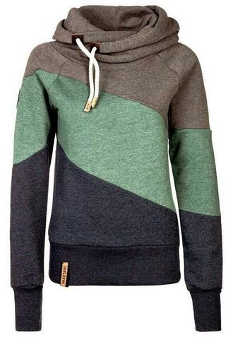 sweater jumper blue jacket grey black hoodie hoodie tri-color naketano