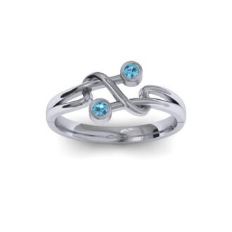 jewels rings silver ring silver ring blue gem