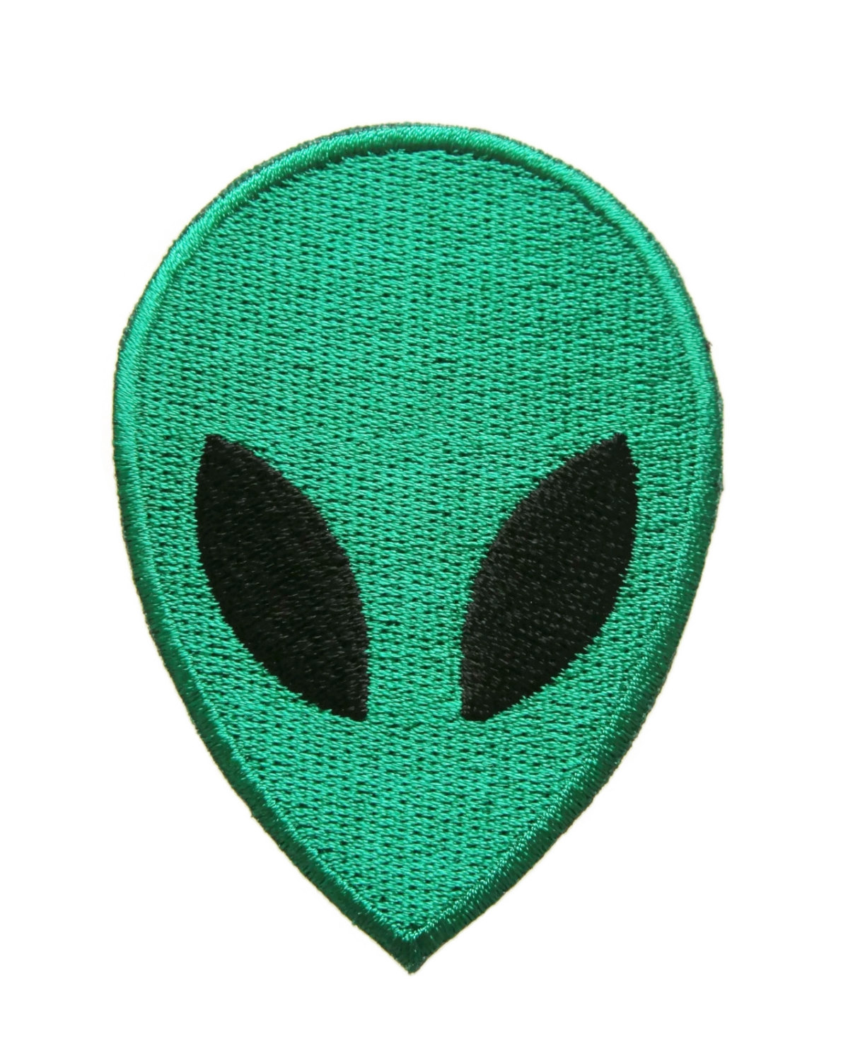 Alien face cartoon peace ufo applique embroidered iron on patch p332