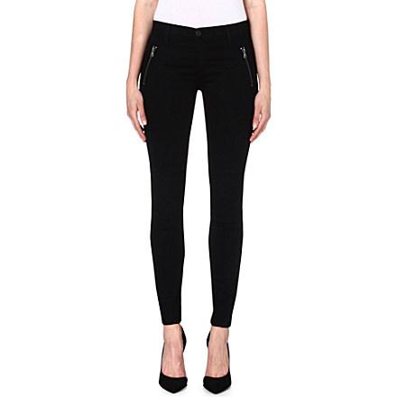 HUDSON JEANS - Stark moto skinny mid-rise jeans | Selfridges.com