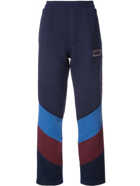Fenty x Puma pants high waisted pants high waisted high women spandex cotton blue