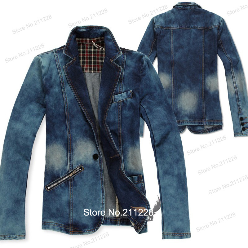 Aliexpress.com : Buy XXXL Plus Size Spring Fall Fashion Men's Slim Fit  Blue Denim Jacket , Casual Jean Coats  Blazer , Formal Dress Blazers For Men from Reliable dress you suppliers on Jeanie Deng's store