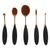 ROSE GOLD OVAL BRUSH SET - 5 PIECES