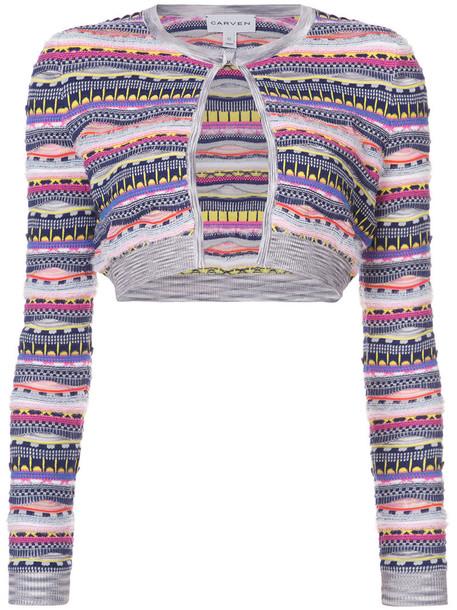 Carven cardigan cardigan women cotton knit sweater