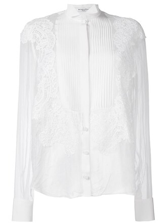 shirt sheer shirt sheer lace white top