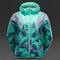 Puma womens tropical print windbreaker - womens select clothing - electric green