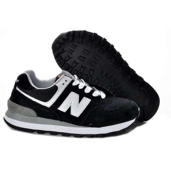 trainers black white new balance 574