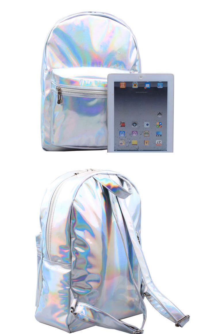 Silver shiny metalic Galaxy Hologram holographic backpack from MoLa_MoLa on Storenvy