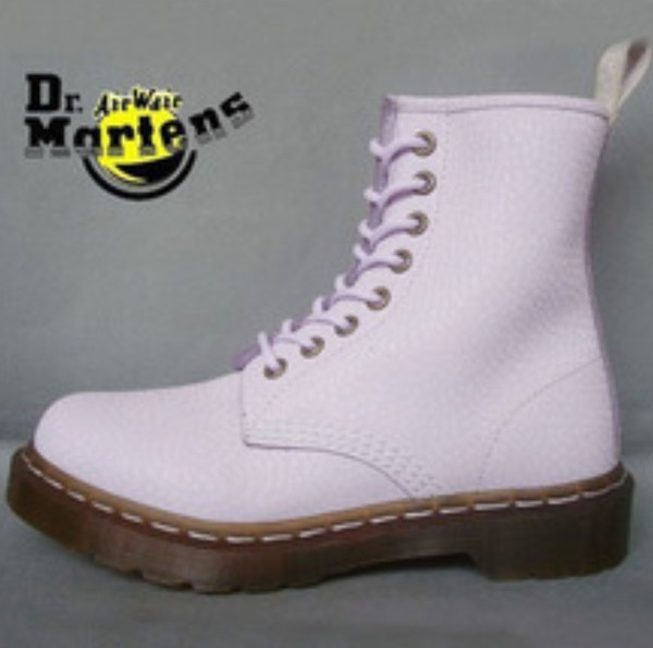 shoes purple pastel docmartens