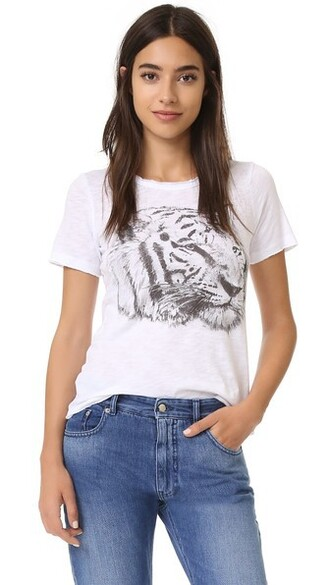 tiger white top