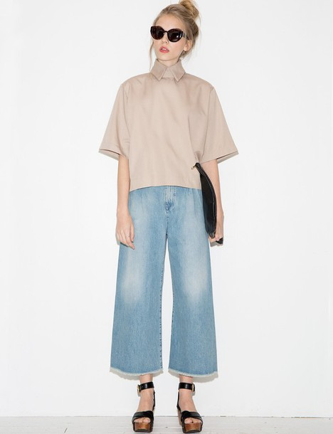 Jeans Ootd Crop Wide Jeans Culottes 70s Style 70s
