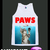 Jaws Shirt Paws Shirt Cat Kitty Tank Top Tshirt Singlet Vest R10354 Tank Top - Tanks Tops & Camis | RebelsMarket