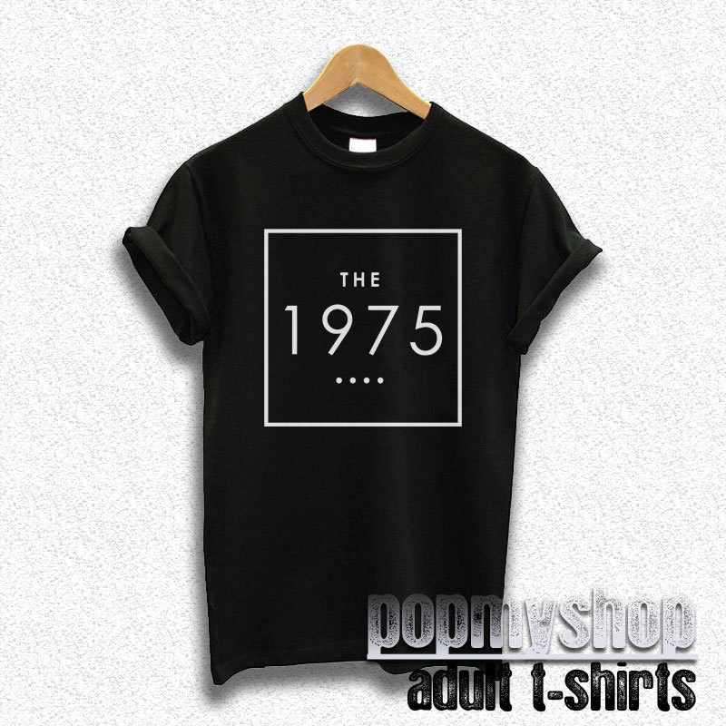 The 1975 shirt the 1975 band t shirt black dw37 for Making band t shirts