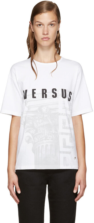 t-shirt shirt white print top