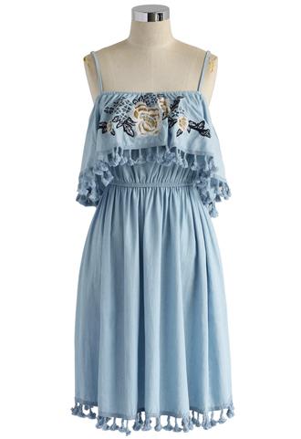 dress chambray cami dress floral