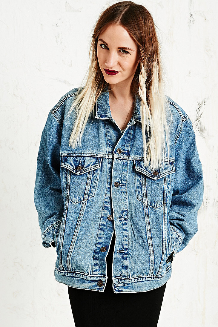 Vintage Renewal Branded Denim Jacket - Urban Outfitters