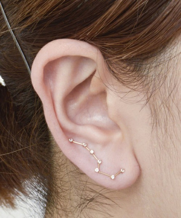 jewels earrings constellations little dipper studs jewelry stars big dipper galaxy print sky fashion earrings diamonds diamonds gold silver constellation gems stars space galaxies necklace piercing gold earrings