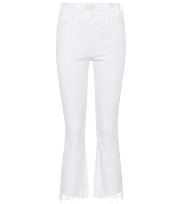 Mother Insider Cropped Step Fray jeans in white
