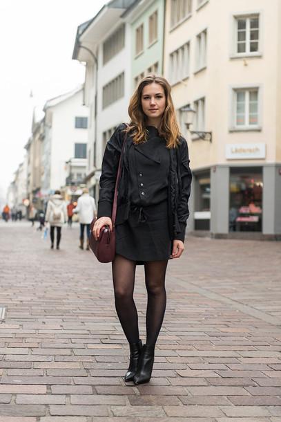 fashion gamble blogger dress jacket shoes bag