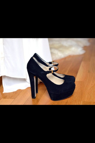 shoes mary jane platform heel