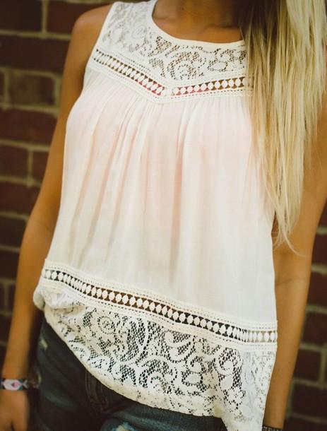 shirt white lace blouse