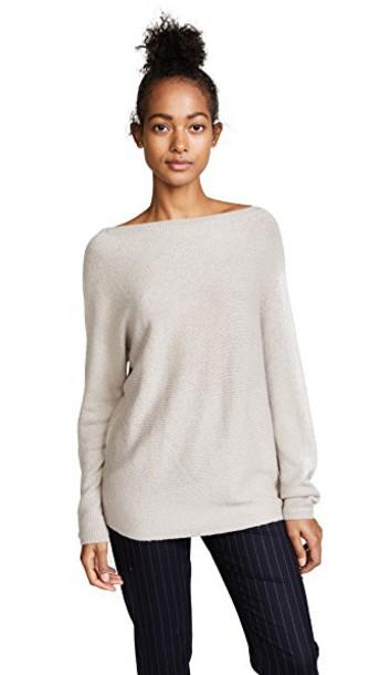 TSE Cashmere sweater asymmetrical dark
