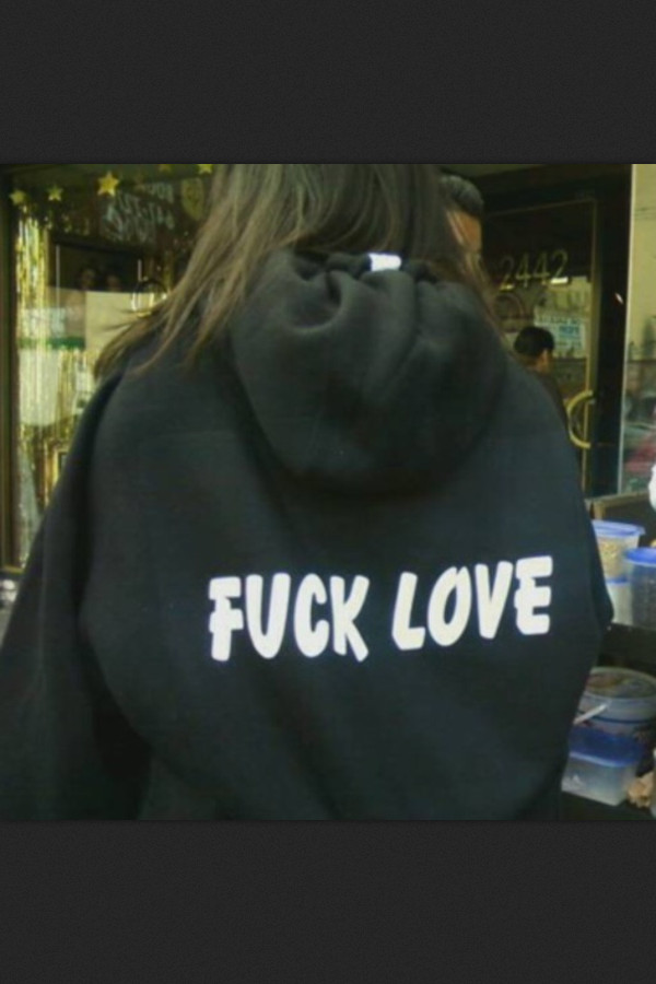 sweater black quote on it white fuck love grunge sweatshirt jumper oversized sweater